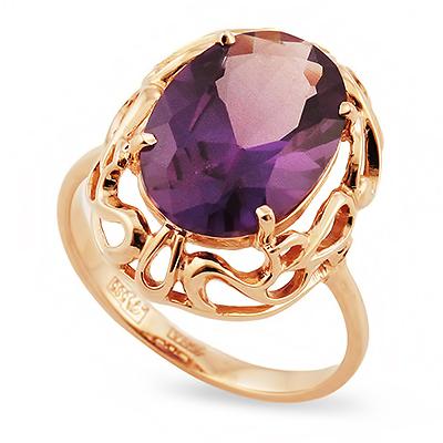 Золотое кольцо с александритом (синт.) 4.8 г SL-2230-480